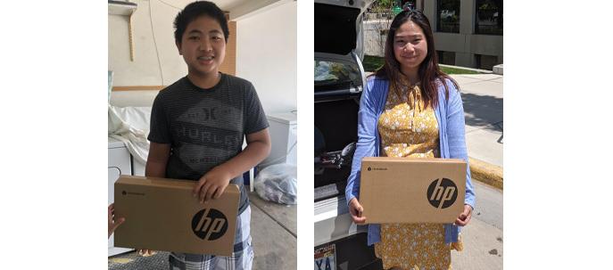 Karen Community of Utah Chromebook recipients